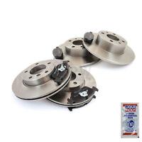 4x Discos de Freno + Forros Delantero Traseros Opel Ventilado + Completo 1241331
