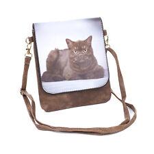 Cat Slim Cross body Bag - Brown Tabby British Shorthair