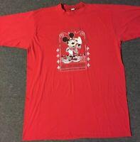 Vtg 90s Mickey Mouse Beach Patrol Sleeping Shirt USA Disneyland Minnie Goofy 80s
