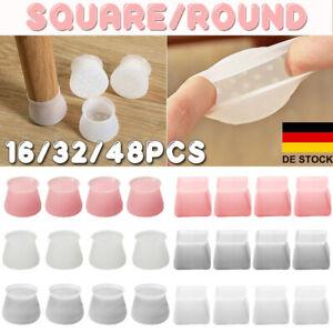 Fußkappen Stuhlbeinkappen Möbel Tischfuß Socken Bodenschutz Schoner Silikon DE