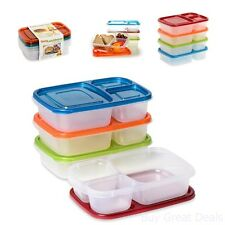 Lunch Box Bento Food Container Storage School Picnic Student Set Of 4 BPA Free