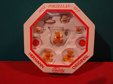 Hermann Teddy Bear Miniature Dishes by Reutter Made in Germany