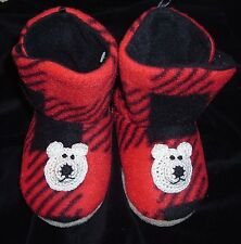 FLEECE SLIPPERS BOOTS 6 12 24 MONTHS 2T BABY TODDLER INFANT BOYS GIRLS UNISEX