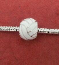 Round Netball Charm Fits European Bracelets NEW for netballer makes great gift