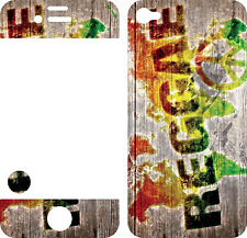 COQUE  iphone 4 EN RESINE 3D STICKERS EN RESINE REPOSITIONNABLE REGGAE N° 21