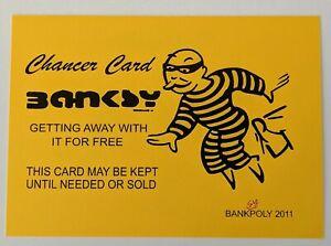 YELLOW BANKSY Chancer Card - Banksypoly 2011 - Graffiti Art / Street Art