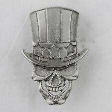 Biker Chopper Uncle Sam Skull Totenkopf Zylinder USA Pin Anstecker Anstecknadel