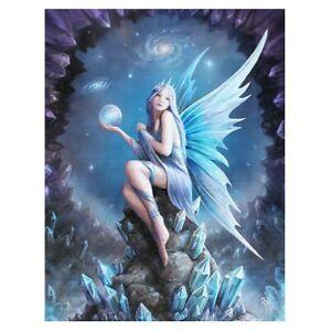 Star Gazer Fairy wall canvas by artist Anne Stokes  25cmx19cm Gothic