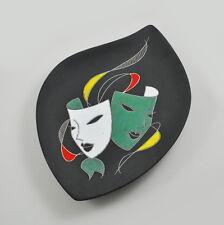 Keto Keramik Wandbild Teller Masken Handarbeit 310 Vintage Masks Design