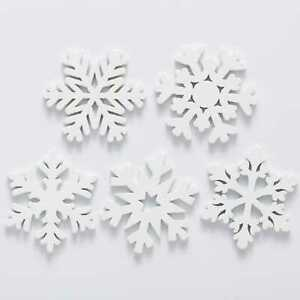 30pcs Snowflake Wood Patch for Sewing Scrapbooking Clothing Crafts Handwork