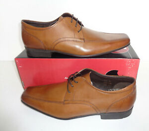 IKON Mens Tan Leather Shoes New Lace Formal Wedding Office RRP £70 Sizes 6-12