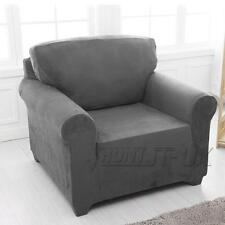 Easy Stretch Couch Sofa Lounge Covers Recliner 1 2 3 4 Seater Dining Chair Cover 3 Seater(190-230cm) Grey