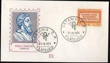 ITALIA 1974 - FDC SILIGATO - MARCO TERENZIO VARRONE (vedi foto)