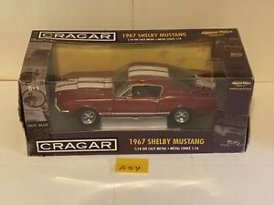 1967 Shelby Mustang GT500 RED  1:18 Ertl American Muscle 33713 Cragar A54