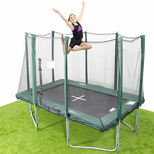 7x10ft Rectangle Trampoline - Inc. Net/Pads/Mat/Springs/Frame & FREE ladder