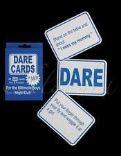 24 x STAG DO DARE CARDS GAME BOYS NIGHT OUT GUYS CARDS STAG PARTY ACCESSORIES