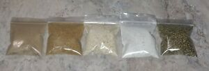 Natural Fertilizers Combo, Bat Guano, Fish Meal, Crab Meal, Oyster Shell, Kelp