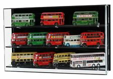 Acrylic Model Wall Display Case for 1:76 Model Buses- 3 Shelves