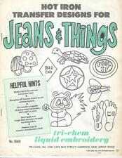 JEANS & THINGS Vintage Tri-Chem Hot Iron Transfer Pattern Book 0669 10 Pgs UNCUT