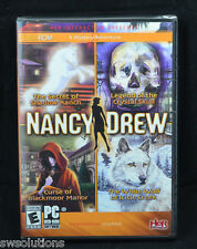 Nancy Drew 4 Pack White Wolf +Crystal Skull +Shadow Ranch +Blackmoor Manor PC
