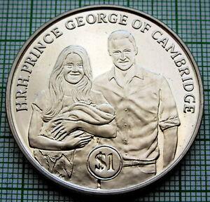 BRITISH VIRGIN ISLANDS 2013 DOLLAR, Christening of Prince George of Cambridge BU