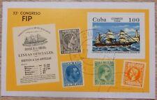 Qbah  Briefmarkenblock  53. Fip Kongress  gelaufen