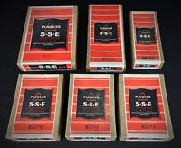 RARE - 6 boîtes plaques en verre photos anciennes LUMIÈRE S.S.E.anti halo