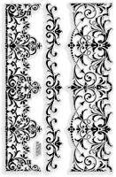 Elegant Borders Stampendous Clear Acrylic Stamp Set SSC1122 NEW!