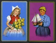Vintage Playing Swap Cards : DUTCH BOY AND GIRL