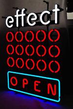 "Effect Energy, LED Neon 3 farbige Leuchtreklame, Leuchtwerbung Dimmer ""Open"""