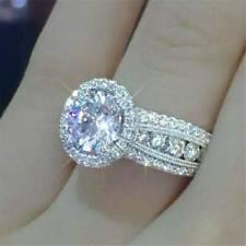 #7 Gorgeous Shine Women 925 Silver Rings White Sapphire Wedding Ring Gift