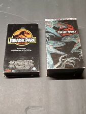 Jurassic Park & The Lost World Collector's Edition Vhs Lot of 2 Movies Spielberg