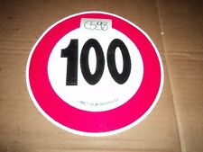 C598 - ADESIVO LIMITE DI VELOCITA 100 KM/H