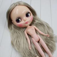 "Takara 12"" Neo Blythe Doll from factory Nude Long Silver Gray Japan hair"