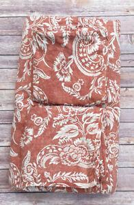 Pottery Barn Alessandra Duvet Cover Set Terracotta Red King 2 Pillow Shams