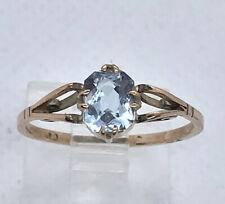 Vintage 9ct Gold Aquamarine Ring
