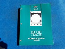 1998 Ford Escort Mercury Tracer Factory Service Chassis Body Repair Manual