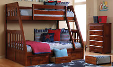 Discovery World Furniture Merlot Twin over Full Mission Bunk Bed