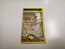 Rs20 Edmonton Eskimos 2003 Cfl Football Pocket Schedule - Tim Hortons