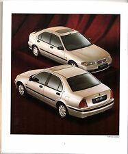 Rover 400-Series Saloon & Hatchback 1996-97 UK Market Brochure 414 416 420 420D