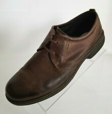 ECCO Derby Goretex Round Toe Brown Leather Lace Up Mens Shoes Size EU 45 US 12