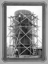 """Photo 1914 Kansas """"Construction of a Silo"""""""