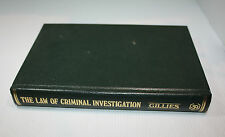 """The Law of Criminal Investigation""  book by Peter Gillies Law Book Co. 1982"