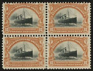US Sc# 299 *MINT OG H* { BLOCK OF 4 } 10c FAST OCEAN NAVIGATION 1901 CV$ 525.00