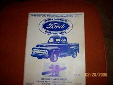 1948 - 1956 Ford Truck Dennis Carpenter Ford Products Parts Catalog Manual 1991
