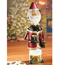 NEW HOLIDAY SANTA METAL WINE BOTTLE HOLDER BY DECO FLAIR