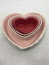 New listing Lot of 4 Vintage Chantal Heart Shaped Bakeware