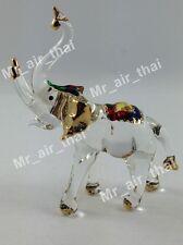 MINIATURE ELEPHANT HAND BLOWN GLASS ART FIGURINE ANIMAL SOUVENIR GIFT