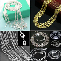 "Wholesale 925 Silver Snake Chain Necklace Fits Pendant 14-28"" 1PC"