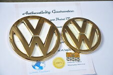 24K Gold Plated VW Scirocco Front And Boot Car Badge 1K8853630B739 1K8853600B739